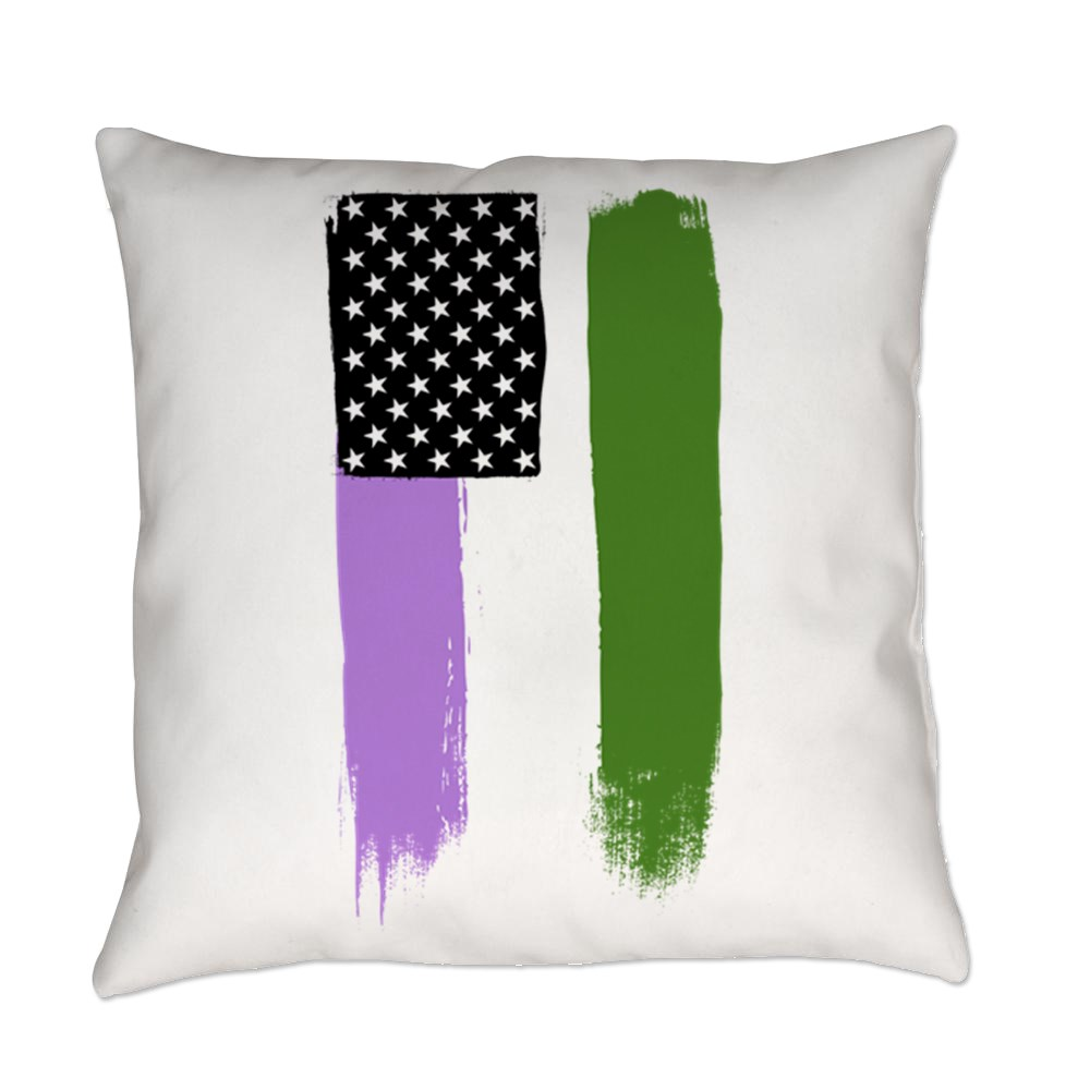 Genderqueer Pride Flag Stars and Stripes Flag Everyday Pillow