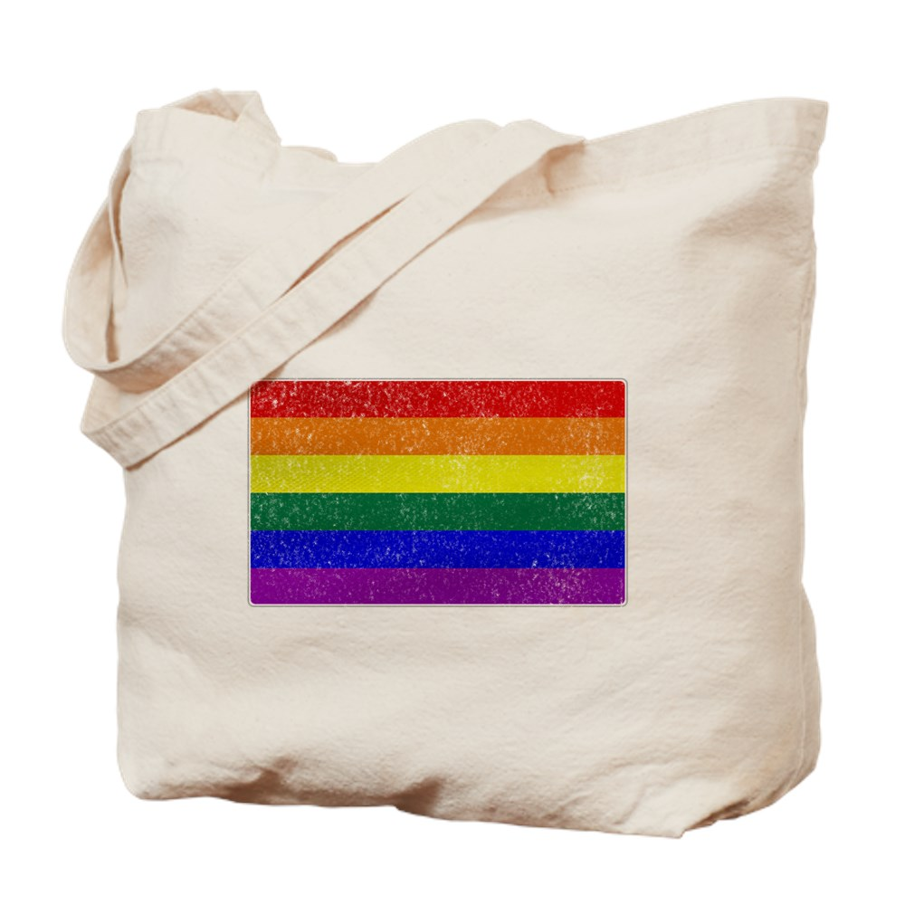 Distressed LGBT Gay Pride Flag Tote Bag