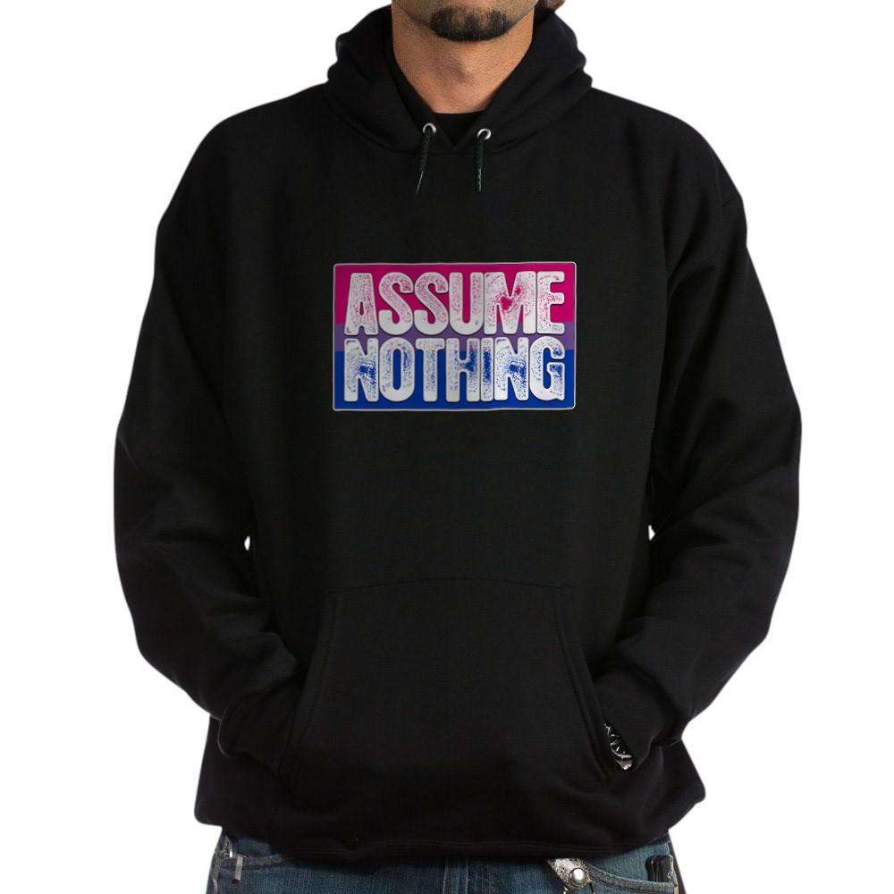 Assume Nothing Bisexual Pride Flag Dark Hoodie