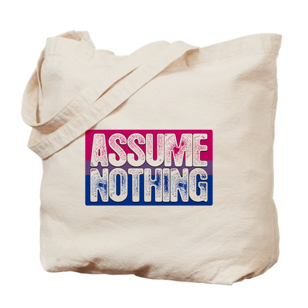Assume Nothing Bisexual Pride Flag Tote Bag