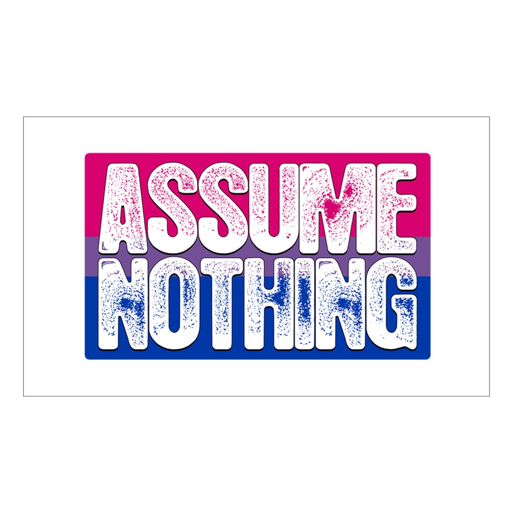 Assume Nothing Bisexual Pride Flag Rectangle Sticker