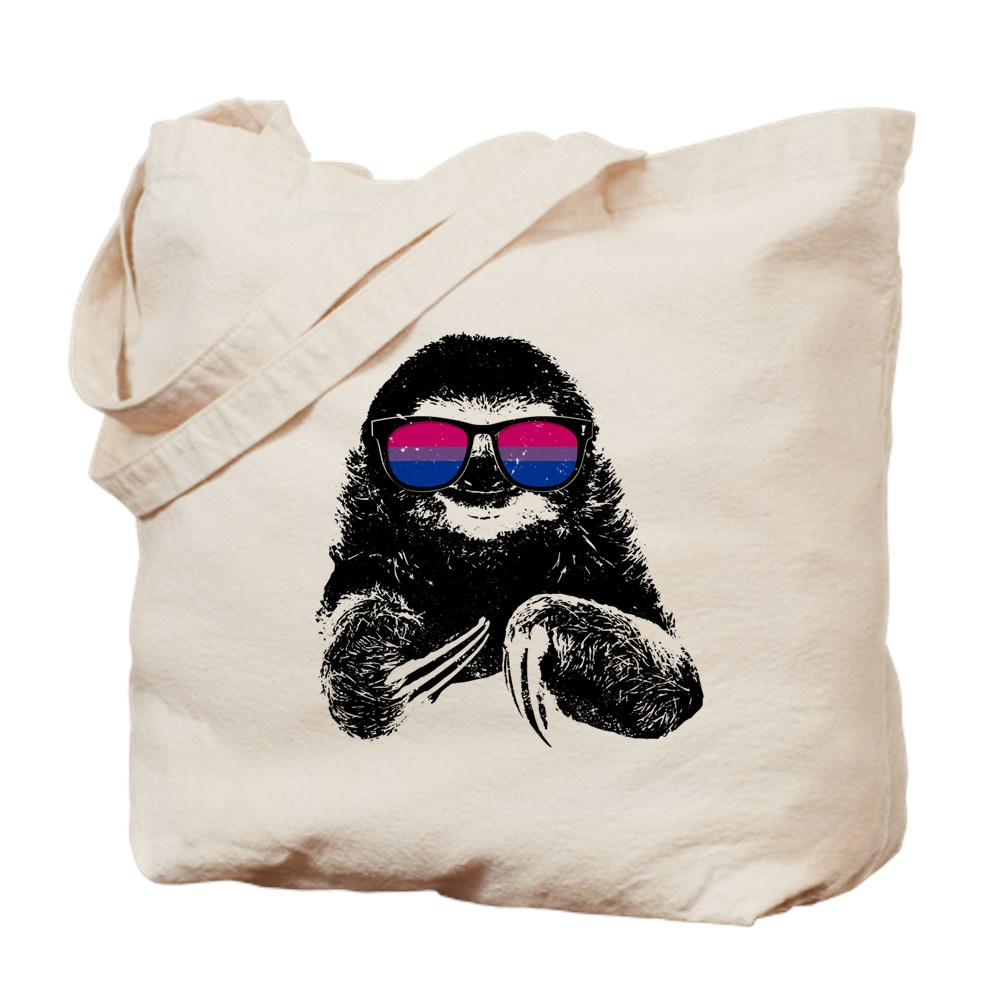 Pride Sloth Bisexual Flag Sunglasses Tote Bag