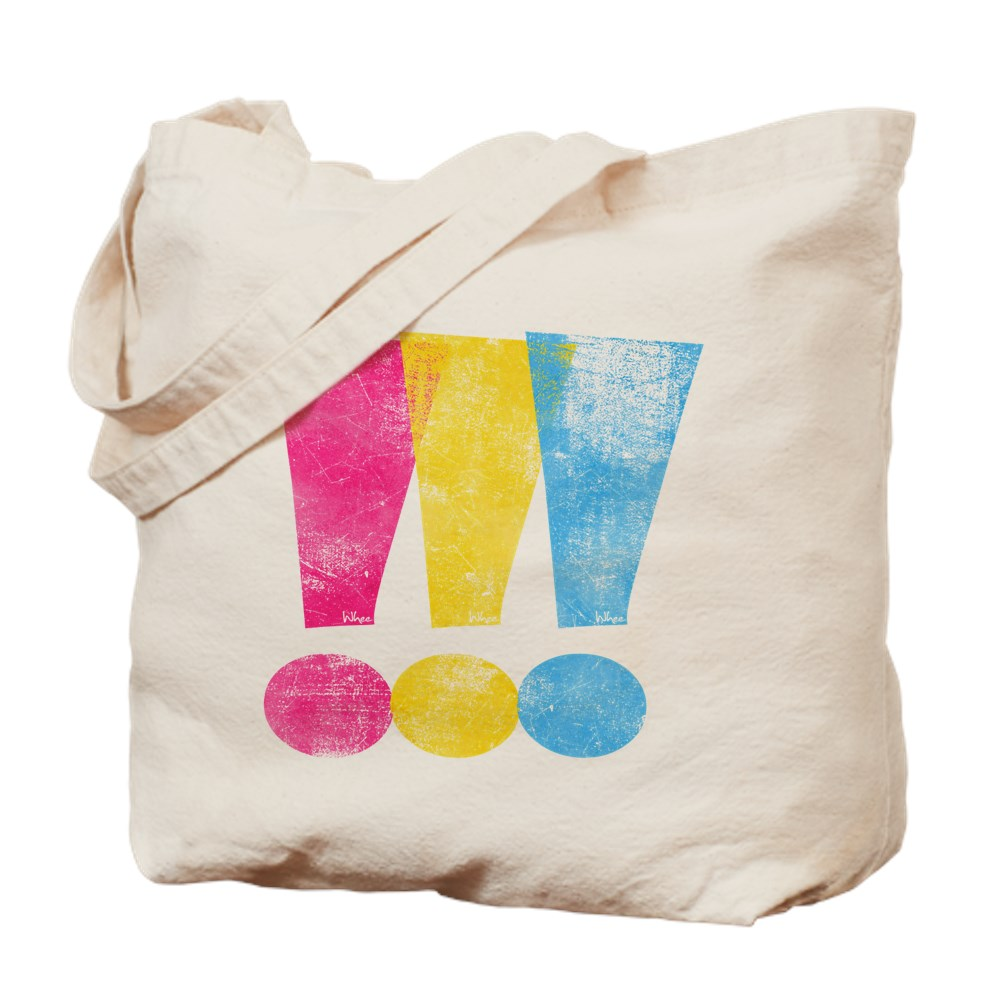 Distressed Pansexual Pride Exclamation Points Tote Bag