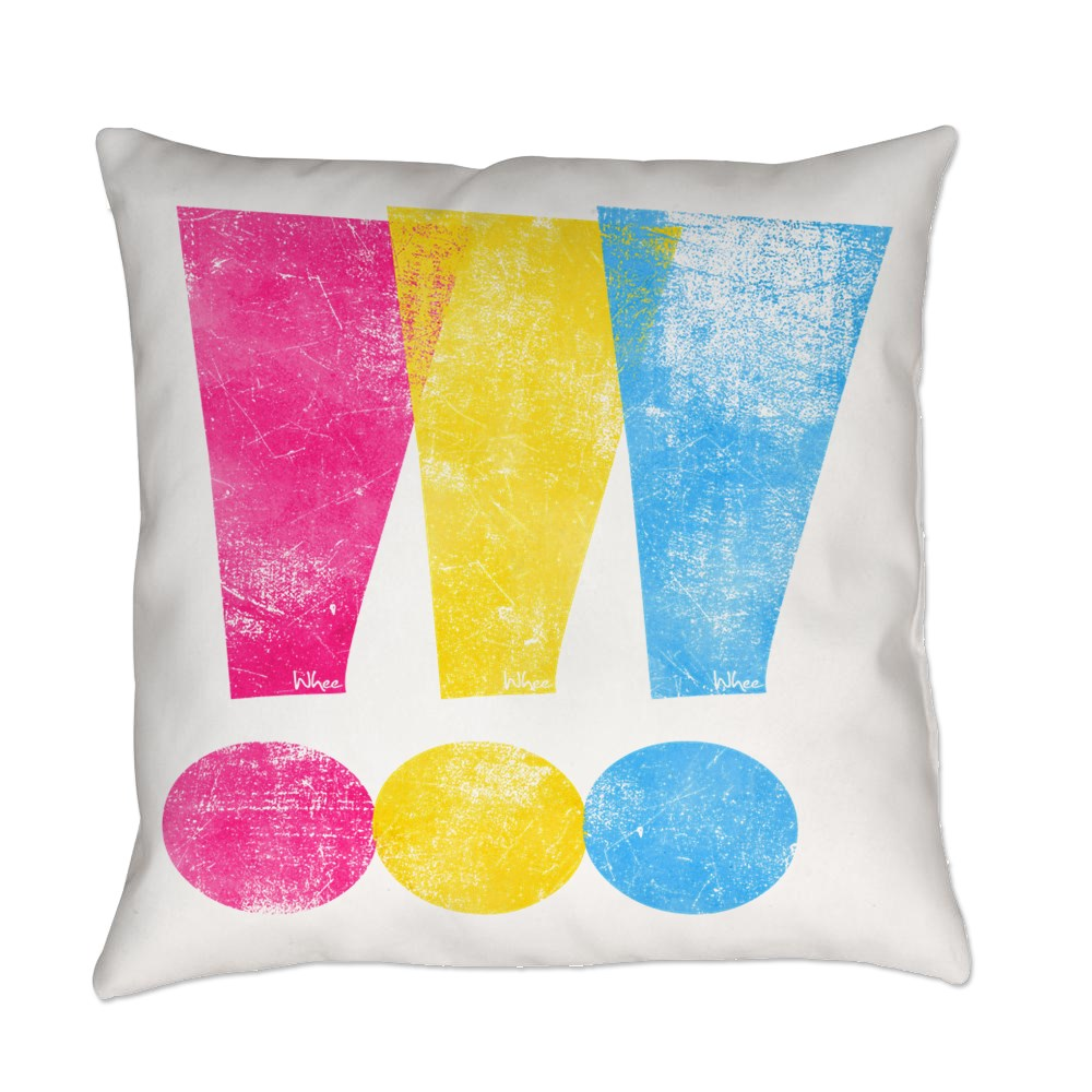 Distressed Pansexual Pride Exclamation Points Everyday Pillow
