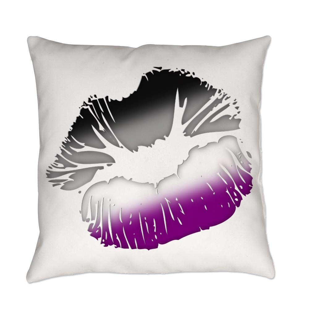 Asexual Pride Big Kissing Lips Everyday Pillow