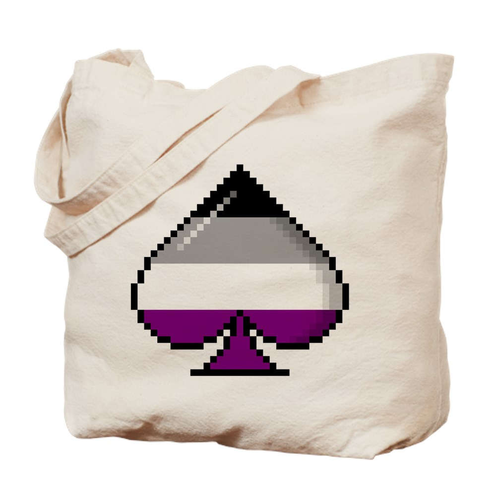 Asexual Pride Flag Pixel 8-Bit Ace Tote Bag