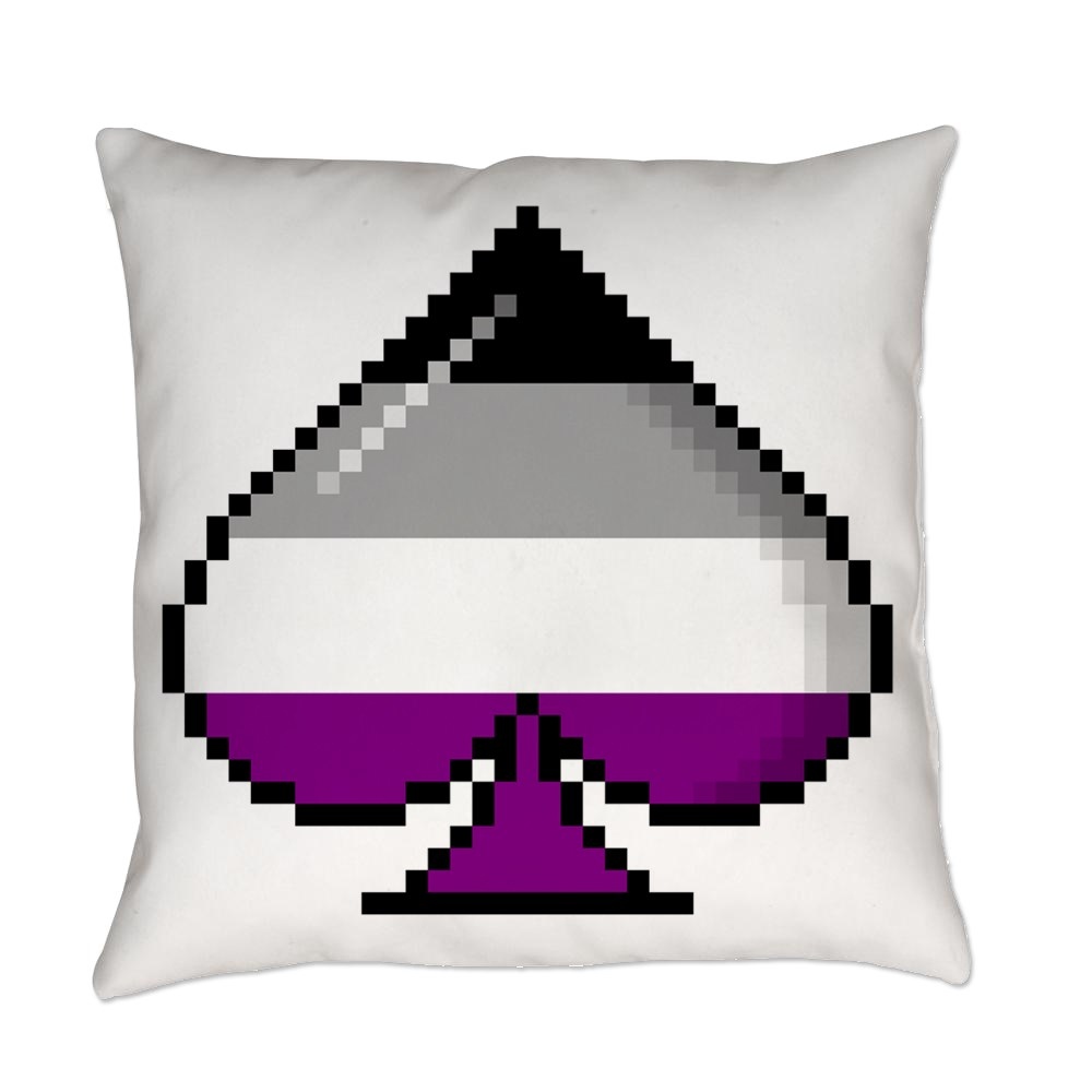 Asexual Pride Flag Pixel 8-Bit Ace Everyday Pillow