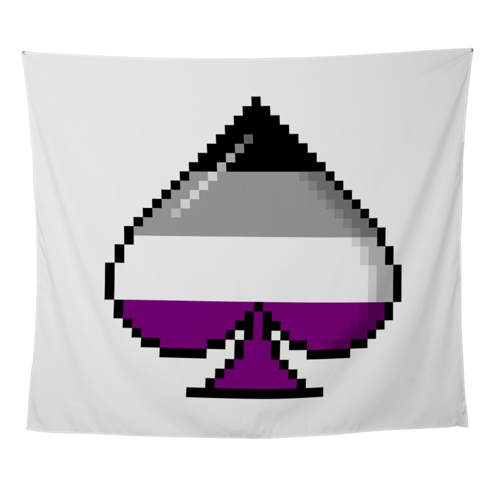 Asexual Pride Flag Pixel 8-Bit Ace Wall Tapestry