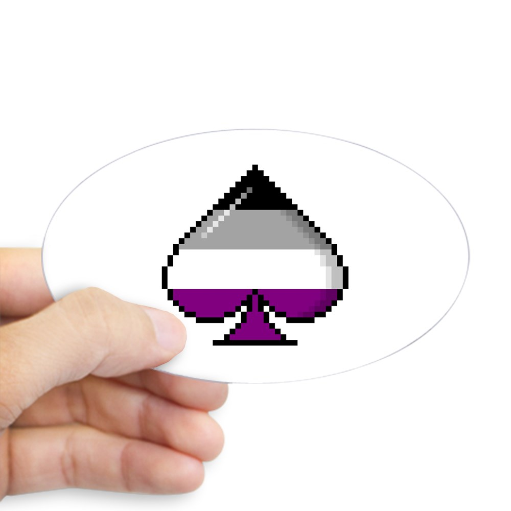 Asexual Pride Flag Pixel 8-Bit Ace Oval Sticker