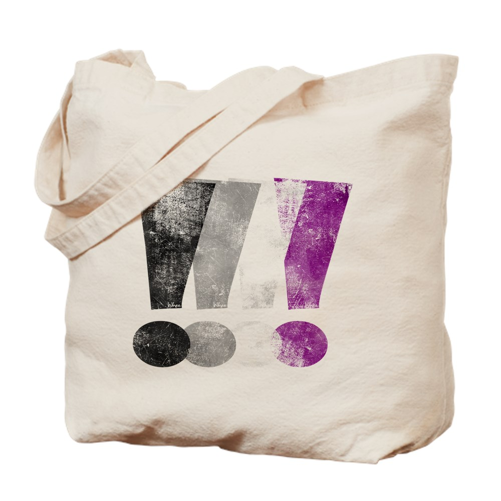 Distressed Asexual Pride Exclamation Points Tote Bag