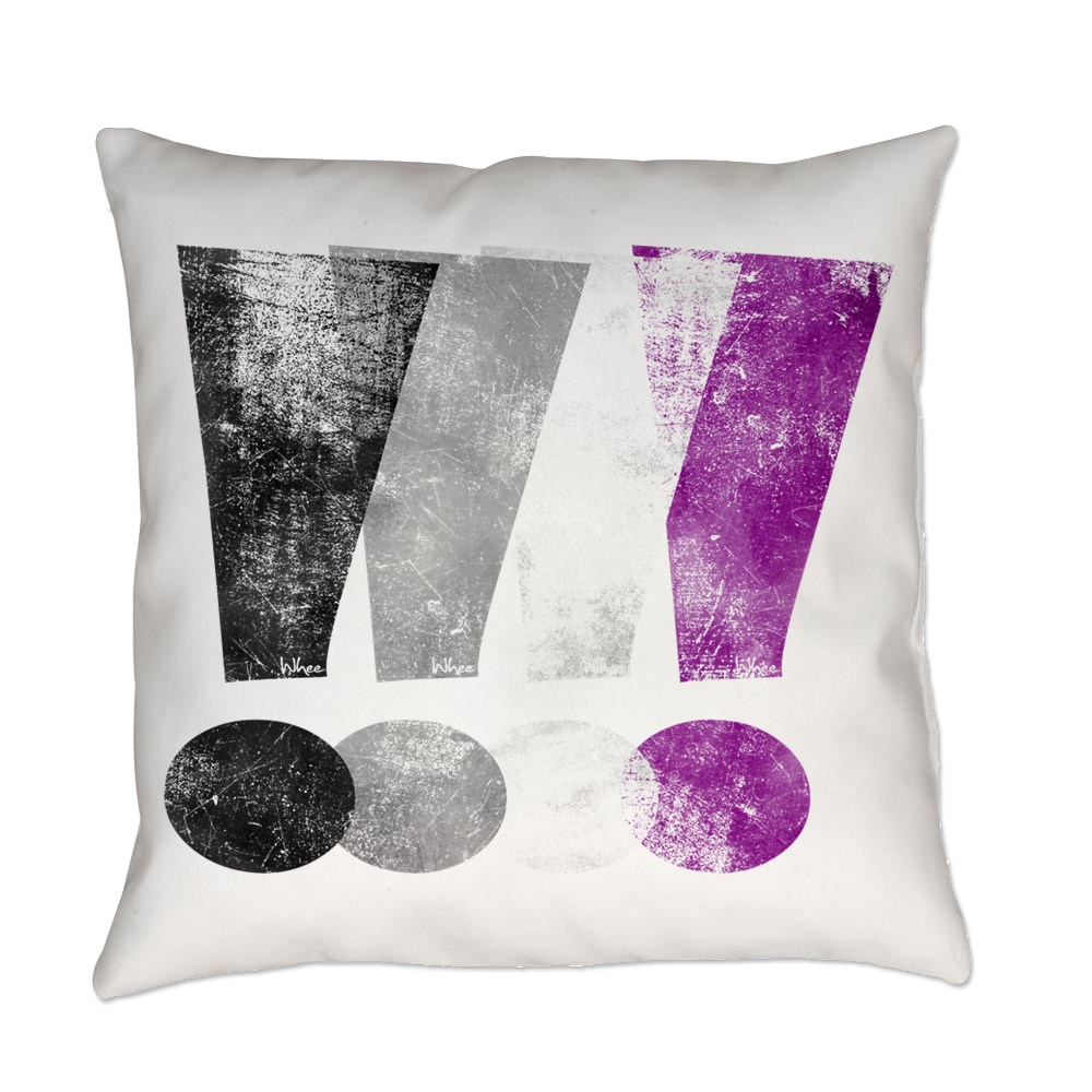 Distressed Asexual Pride Exclamation Points Everyday Pillow