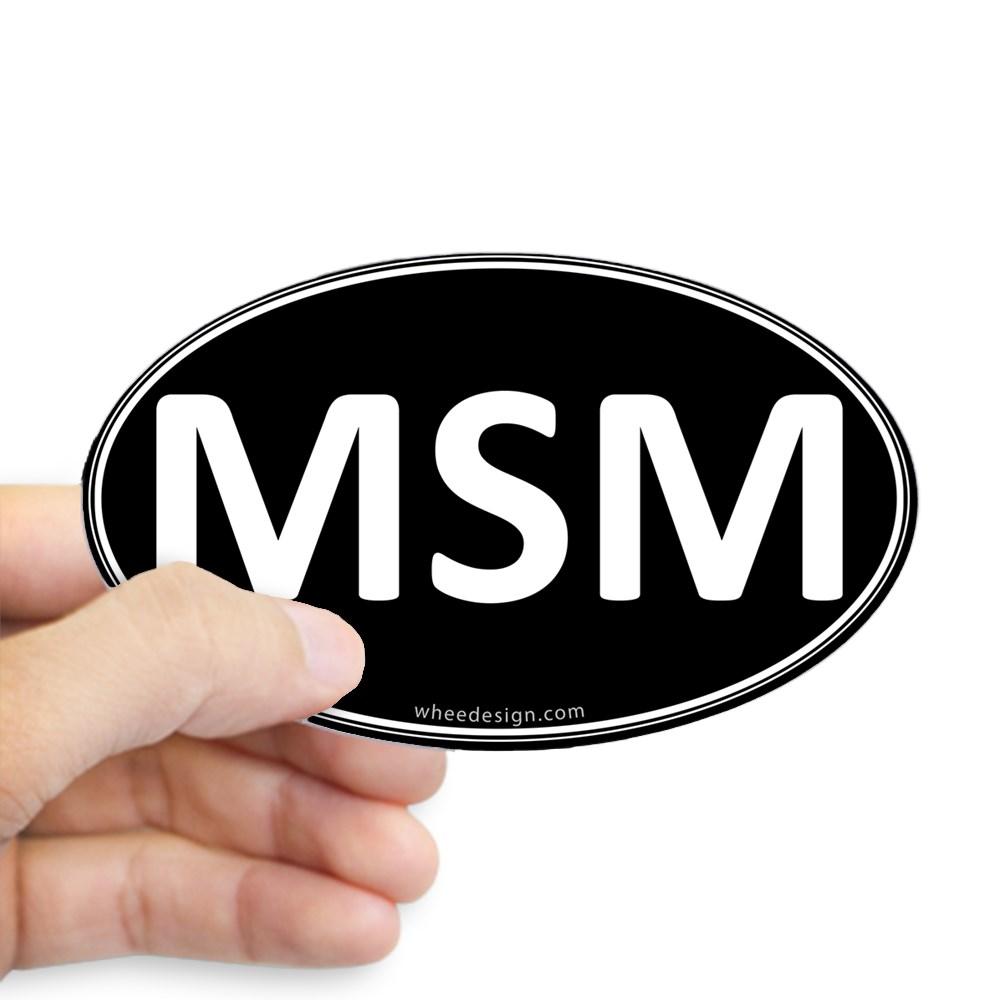 MSM Black Euro Oval Oval Sticker