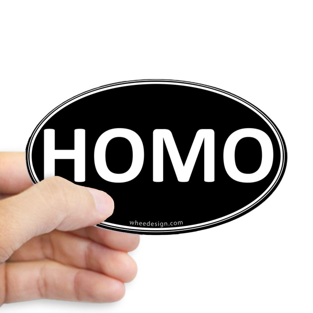 HOMO Black Euro Oval Oval Sticker