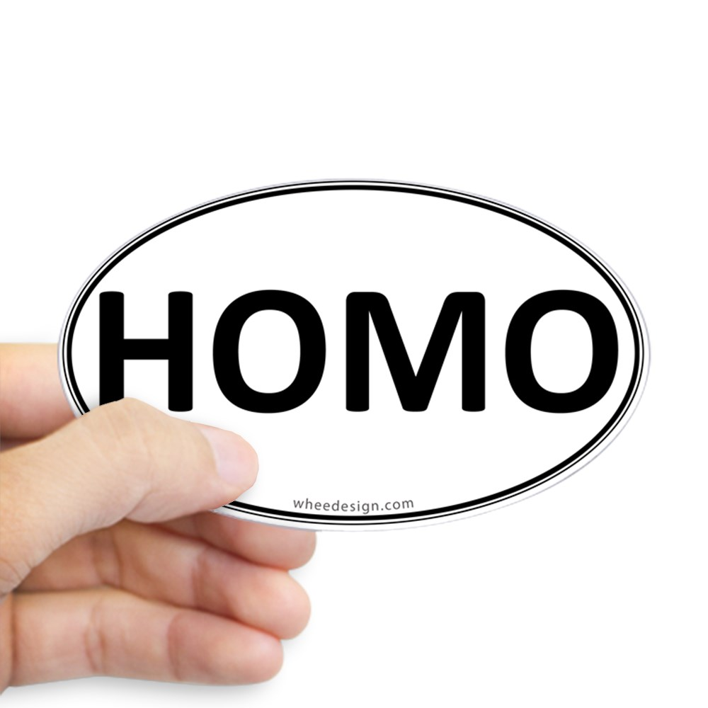 HOMO Euro Oval Oval Sticker