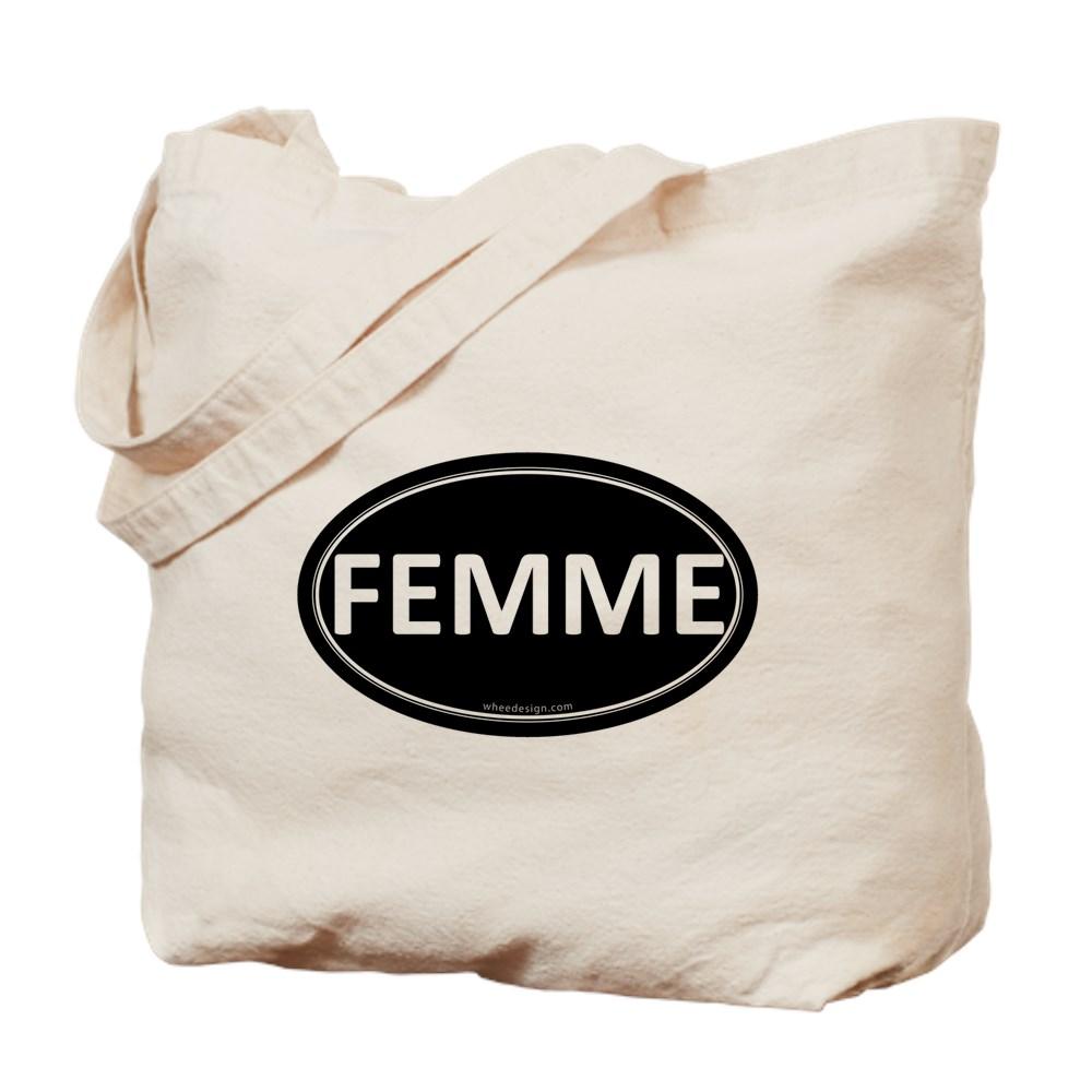 FEMME Black Euro Oval Tote Bag