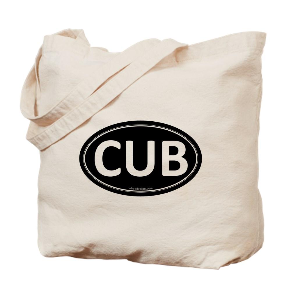 CUB Black Euro Oval Tote Bag