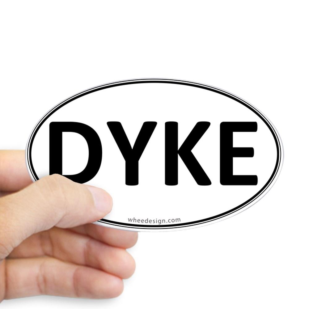 DYKE Euro Oval Oval Sticker