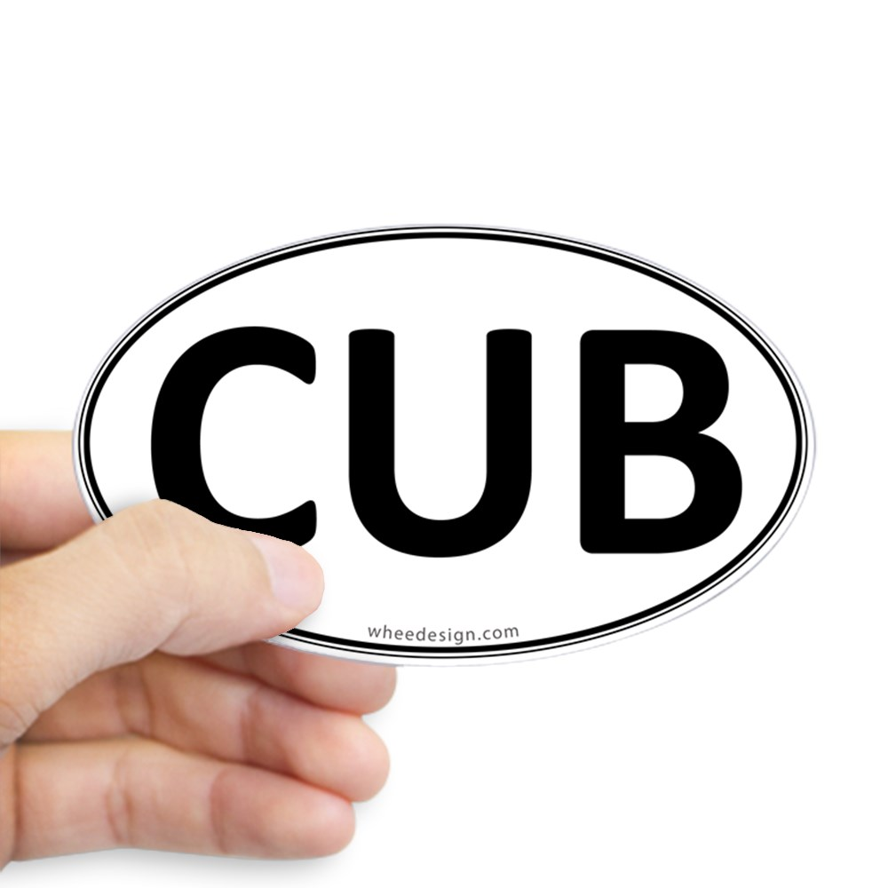 CUB Euro Oval Oval Sticker