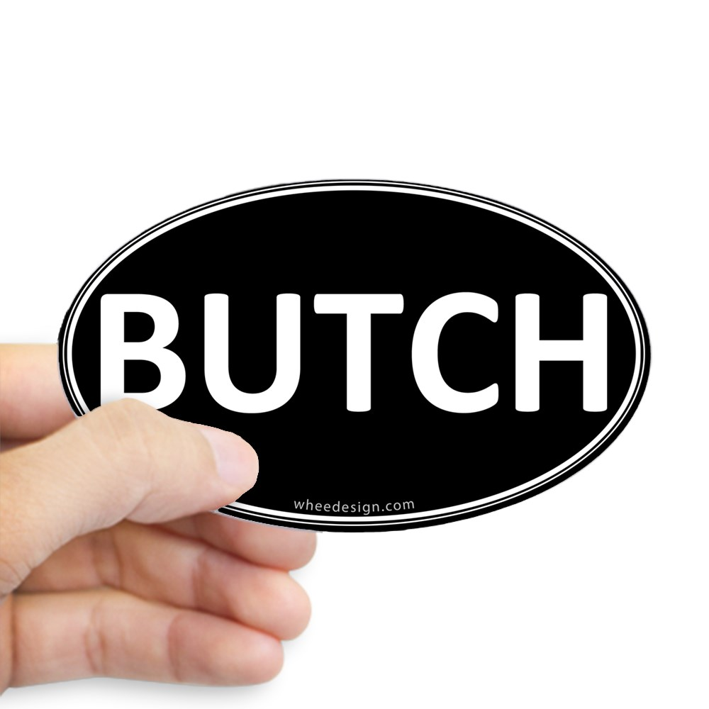 BUTCH Black Euro Oval Oval Sticker