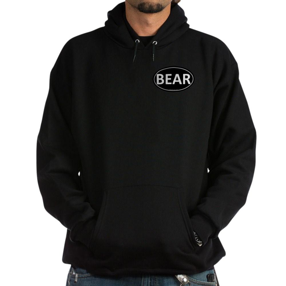 BEAR Black Euro Oval Dark Hoodie