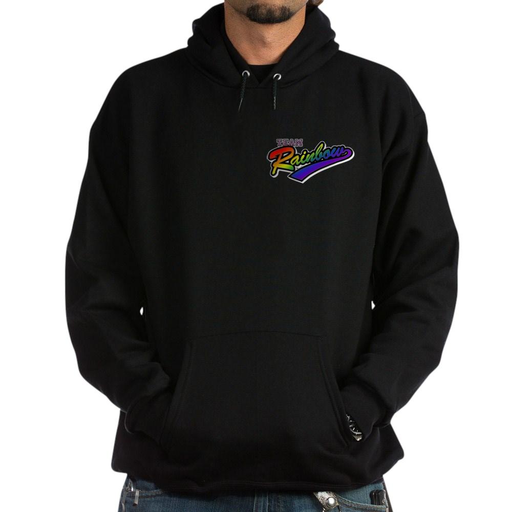 Team Rainbow LGBT Gay Pride Dark Hoodie