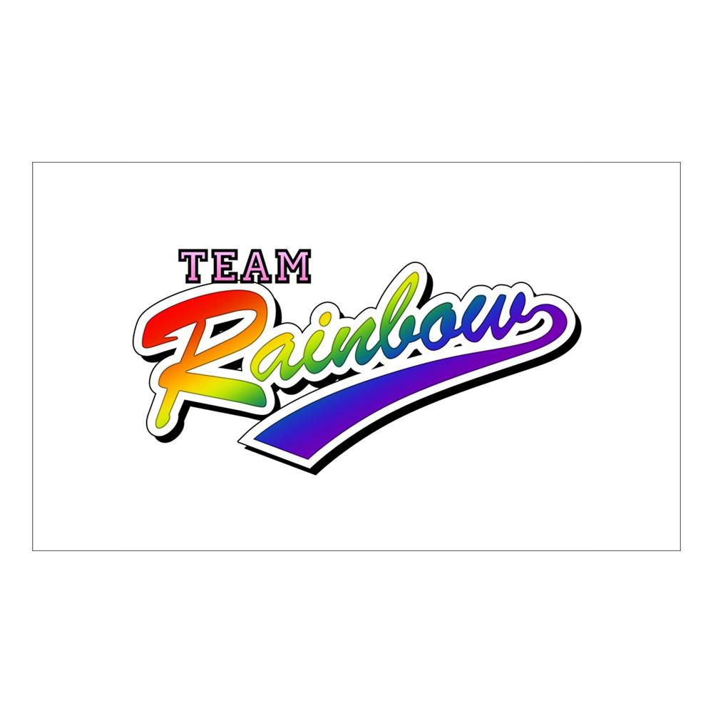 Team Rainbow LGBT Gay Pride Rectangle Sticker