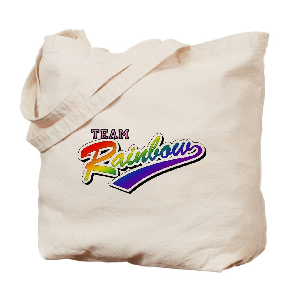 Team Rainbow LGBT Gay Pride Tote Bag