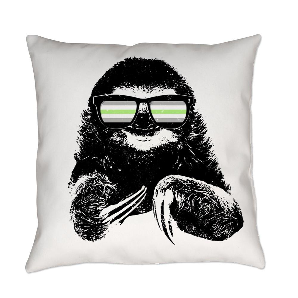 Pride Sloth Agender Flag Sunglasses Everyday Pillow