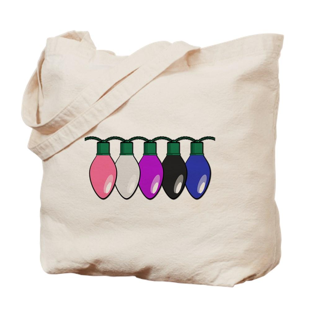 Genderfluid Pride Flag Christmas Lights Tote Bag