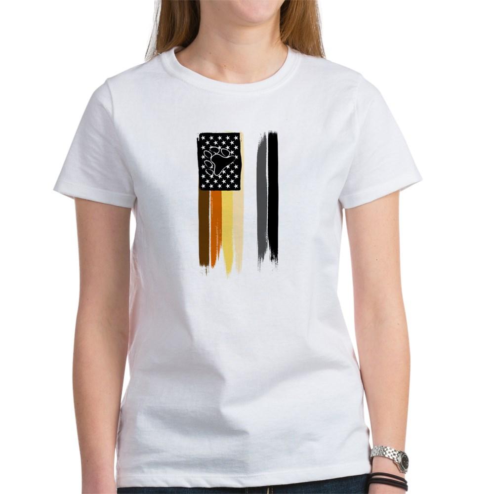 Gay Bear Pride American Flag Women's T-Shirt