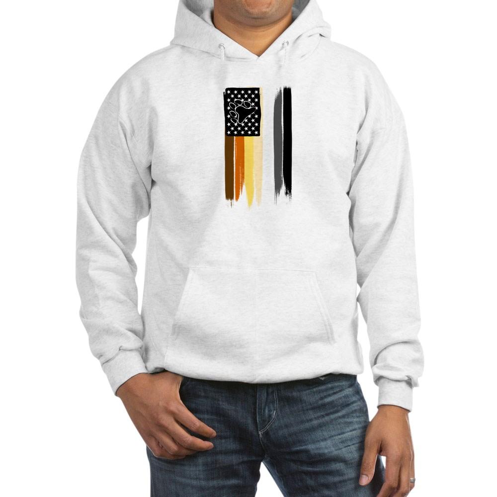 Gay Bear Pride American Flag Hooded Sweatshirt