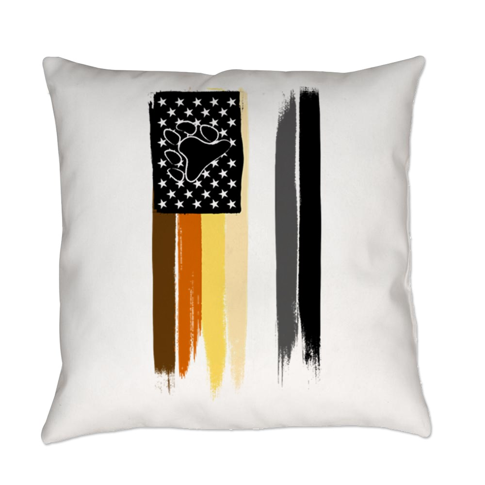 Gay Bear Pride American Flag Everyday Pillow