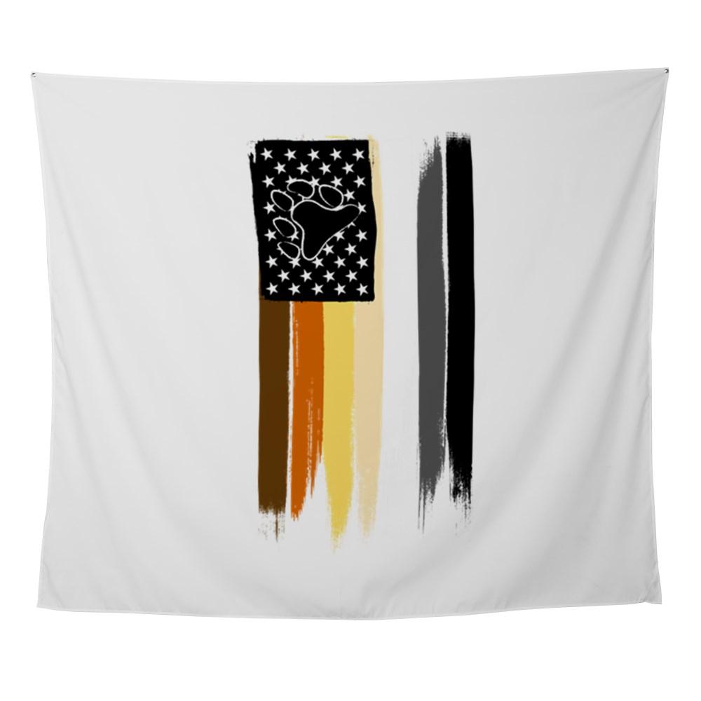 Gay Bear Pride American Flag Wall Tapestry