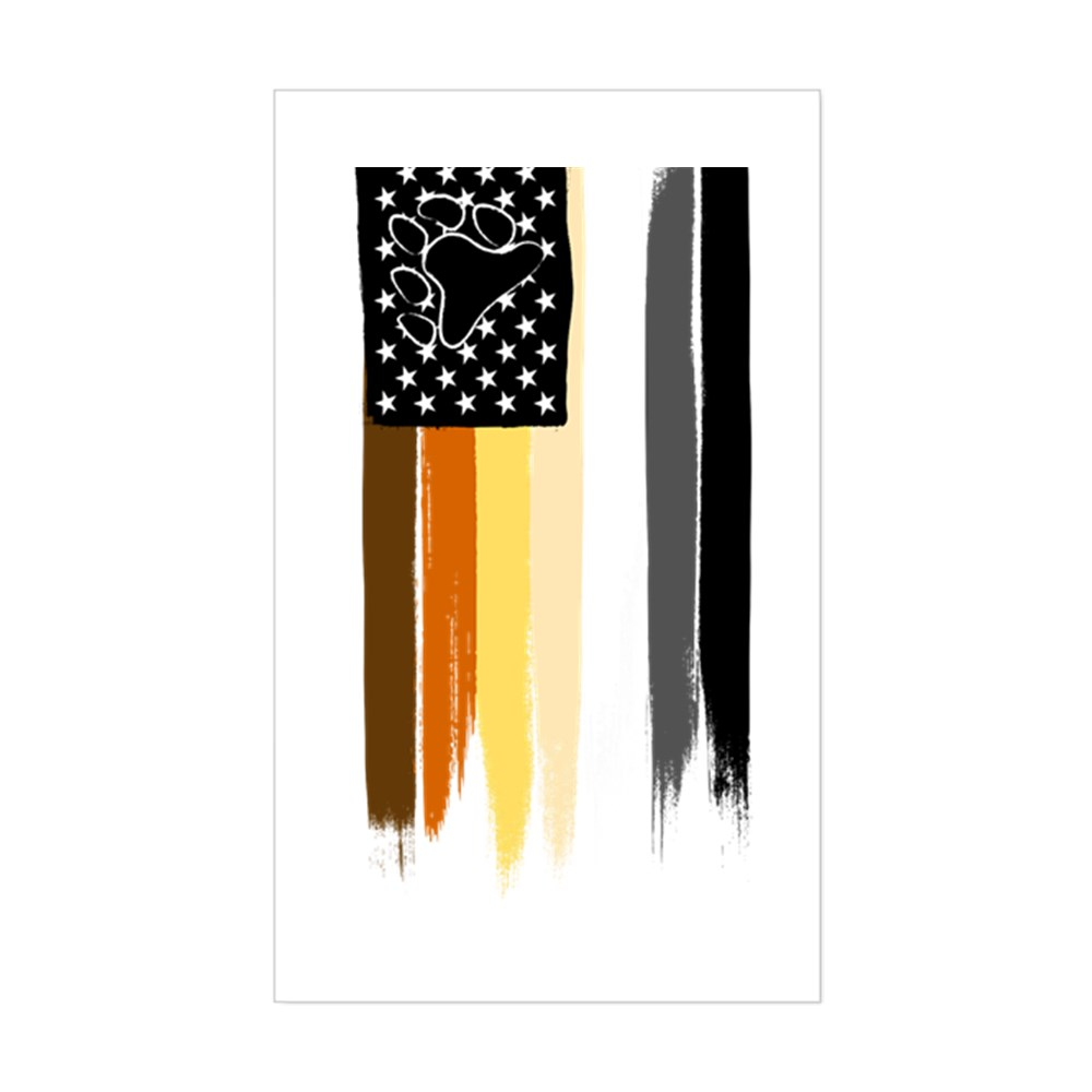 Gay Bear Pride American Flag Rectangle Sticker