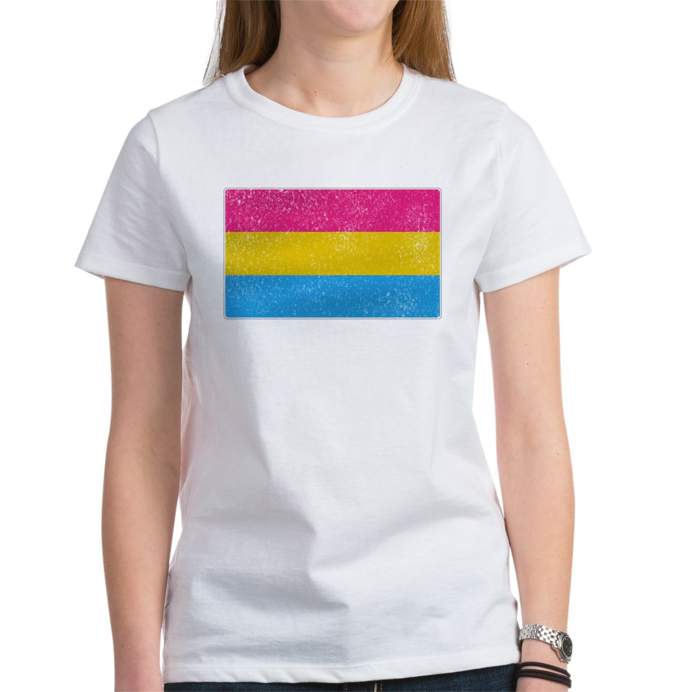 Distressed Pansexual Pride Flag Women's T-Shirt