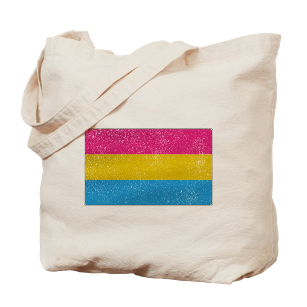 Distressed Pansexual Pride Flag Tote Bag