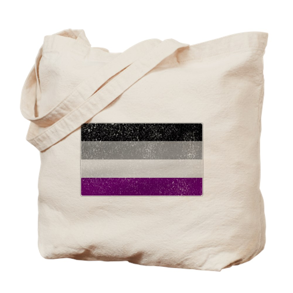 Distressed Asexual Pride Flag Tote Bag