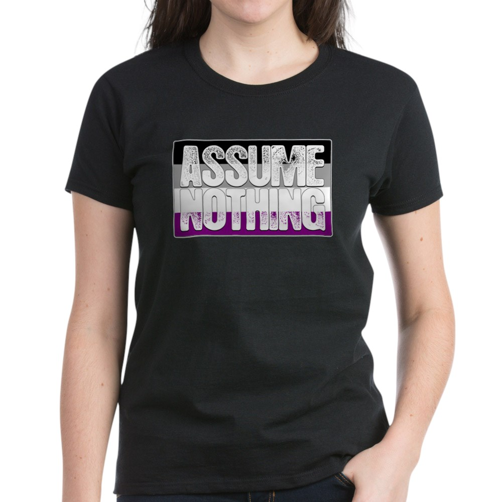 Assume Nothing Asexual Pride Flag Women's Dark T-Shirt