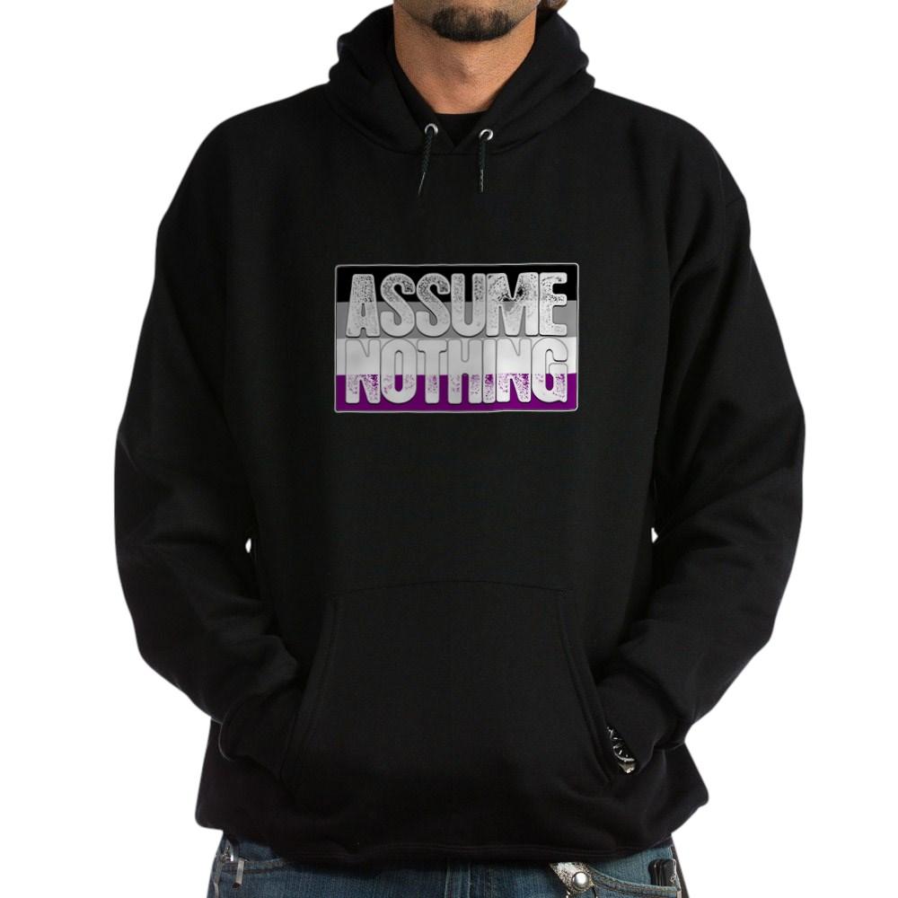 Assume Nothing Asexual Pride Flag Dark Hoodie