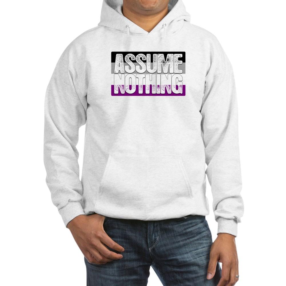 Assume Nothing Asexual Pride Flag Hooded Sweatshirt
