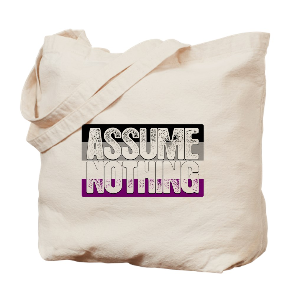 Assume Nothing Asexual Pride Flag Tote Bag