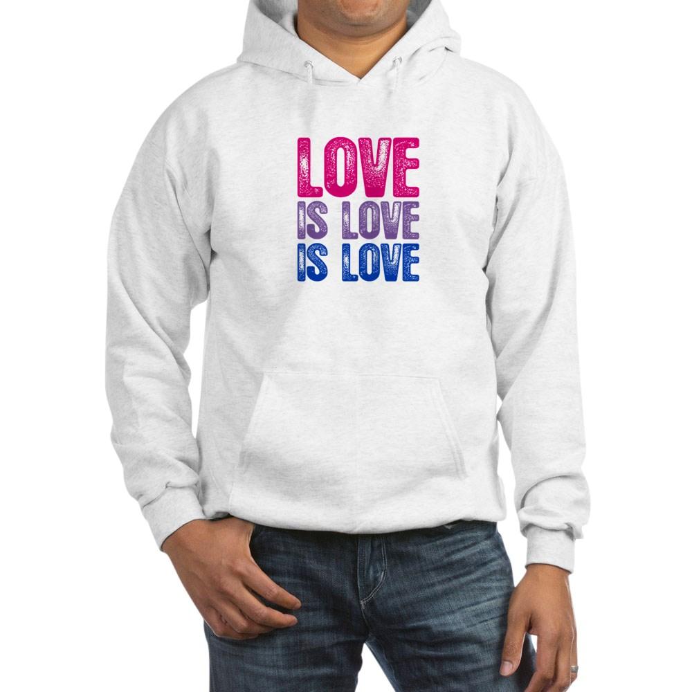 Love is Love is Love Bisexual Pride Hooded Sweatshirt