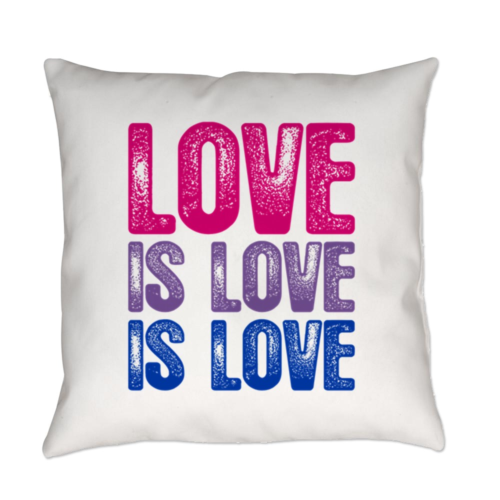 Love is Love is Love Bisexual Pride Everyday Pillow