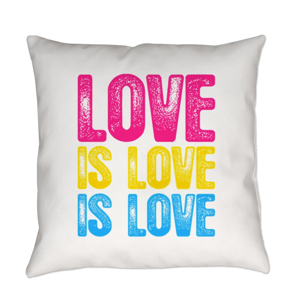 Love is Love is Love Pansexual Pride Everyday Pillow