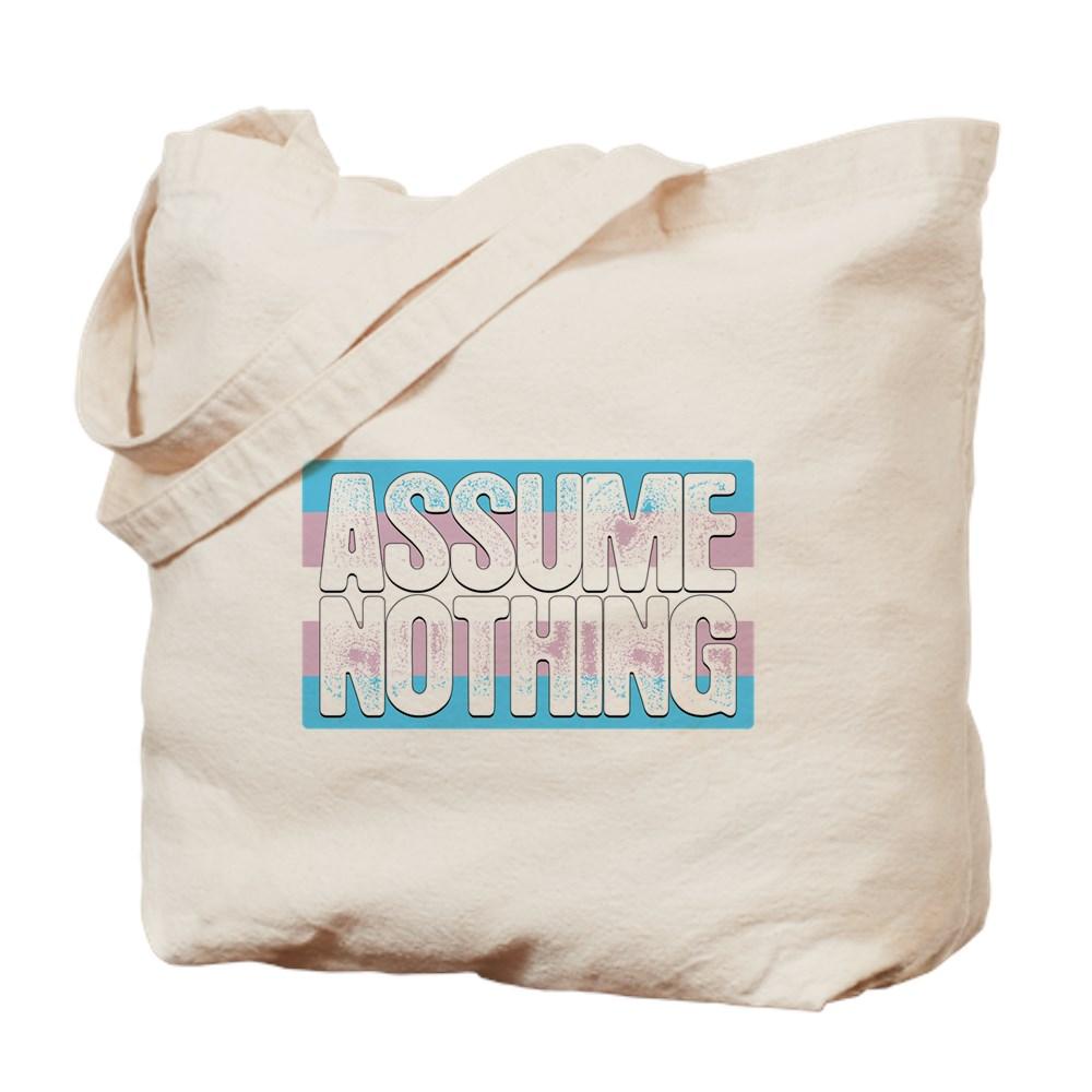 Assume Nothing Transgender Pride Flag Tote Bag