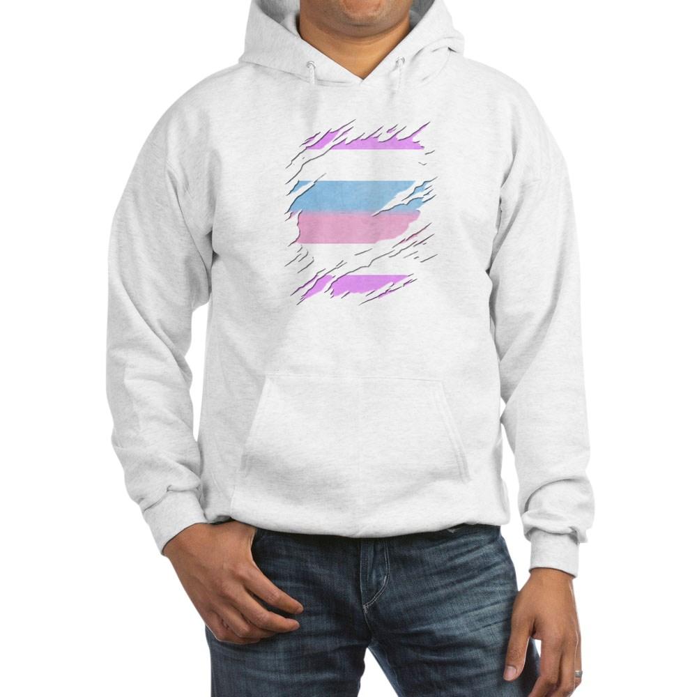 Bigender Pride Ripped Reveal Hooded Sweatshirt