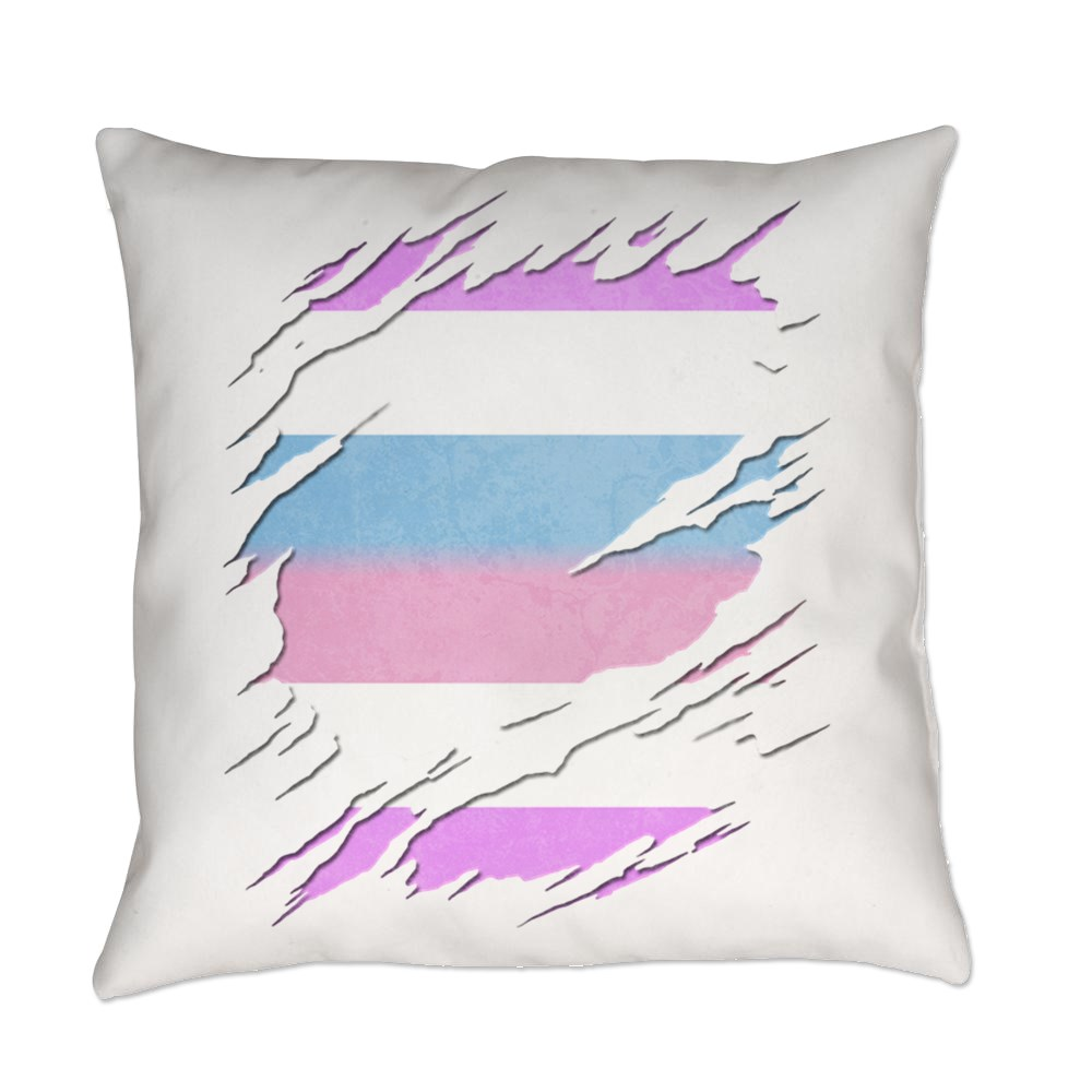 Bigender Pride Ripped Reveal Everyday Pillow