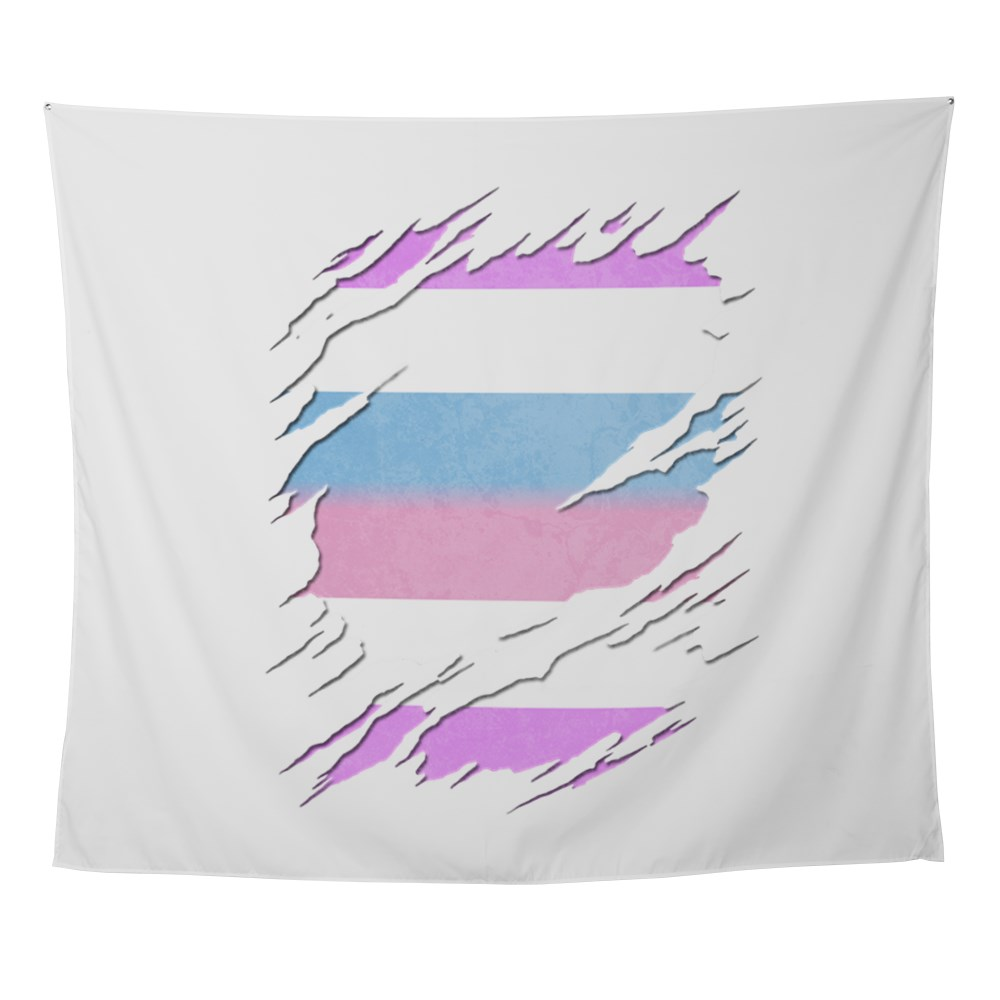 Bigender Pride Ripped Reveal Wall Tapestry