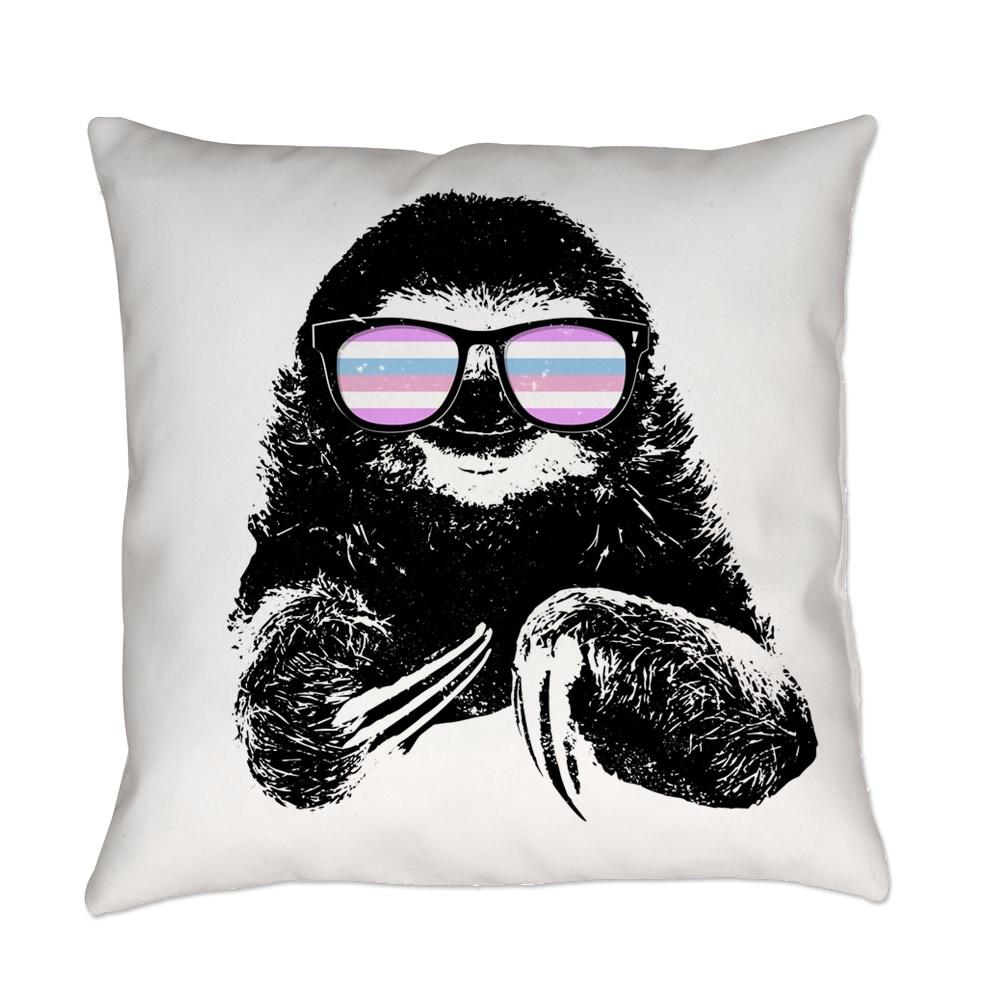 Pride Sloth Bigender Flag Sunglasses Everyday Pillow