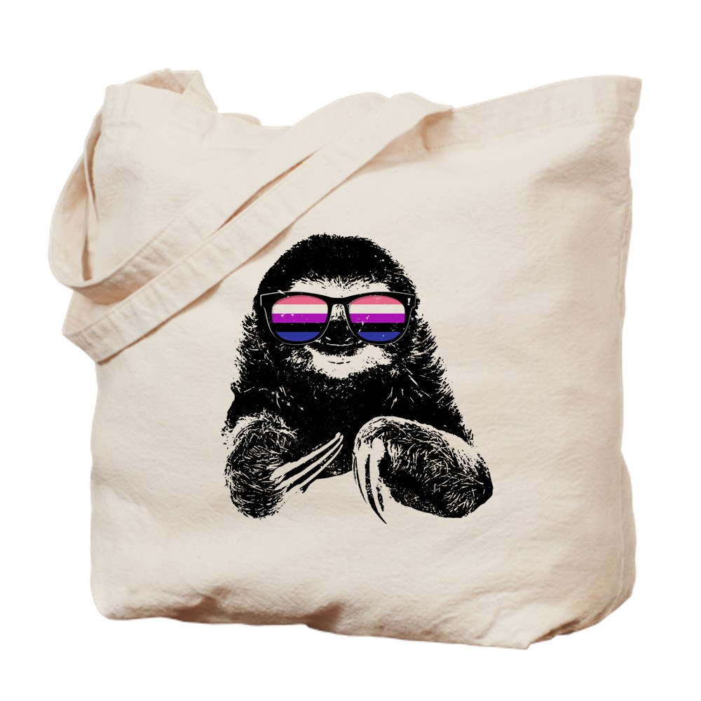 Pride Sloth Genderfluid Flag Sunglasses Tote Bag